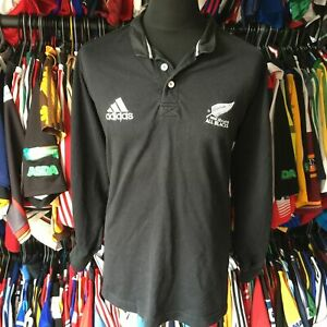 NEW ZEALAND ALL BALCKS 2000 HOME UNION RUGBY SHIRT L/S ADIDAS SIZE ADULT L