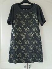 Sportmax grey floral dress UK 8