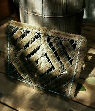 VTG Farm Boot Cleaning Mat Chain Link Heavy Bristle Rustic Northwood Porch Brush