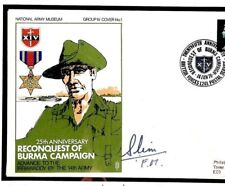 T22b Burma WW2 Event Cover Signed *FIELD MARSHAL SLIM* Military 1970 Autograph