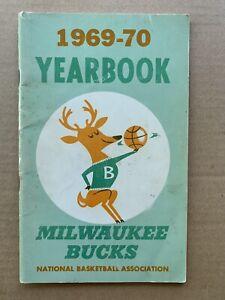 1969-70 NBA Milwaukee Bucks Official Media Guide. Lew Alcindor's Rookie Season.