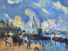 Paul cezanne la seine at bercy old master art painting print poster 2138OM
