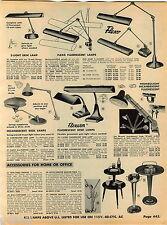 1960 ADVERT Flexarm Flexo Desk Lamp Trombolight Underwood Typewriter Royal KMG