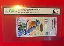 BERMUDA, MONETARY AUTHORITY 2009 2 DOLLARS PMG 65EPQ GEM UNICIRCULATED