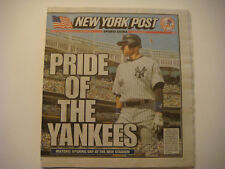 2009 New York Post Newspaper Opening of New Yankee Stadium Pride of the Yankees