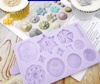 Jewelry Brooch Fondant Silicone Mould Chocolate Vintage Lace Cake Silicon Mold