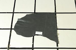 """""""Trapper's Cabin"""" Charcoal Gray Scrap Leather Hide Approx. 2.5 sqft. T15A17-7"""