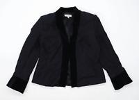 Laura Ashley Womens Size 16 Geometric Black Jacket