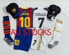 New Kids Soccer Juventus #7 Ronaldo Barcelona #10 Messi jersey Top Short Cap Sox