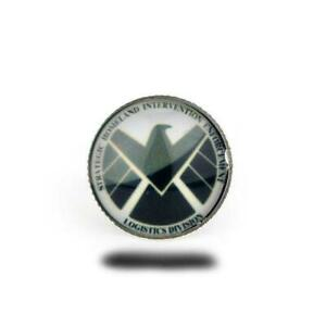 Agents Of Shield Anillo Ring Vidrio Redondo Vintage Marvel Héroes Cosplay #1