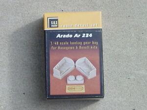 Arado 234 Landing  Gear Bays SBS Resin Detail Set Hasagawa & Revell Kits 1/48
