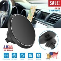 Magnetic Qi Wireless Car Charger 5W Charging Pad Air Vent Phone Mount Holder US