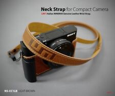 Lim's Leather Camera Neck Shoulder Strap for Leica SONY Fujifilm Light Brown