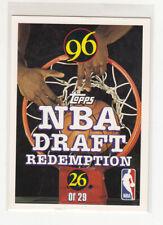 JEROME WILLIAMS 1996-97 Topps NBA Draft Redemption Insert #26 Mint Oddball
