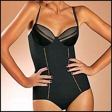 Chantelle Vous & Mois BodySuit 38D Black Body Shaper 2127 Elegant Glamorous BNWT