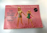 Barbie Doll Accessories: 1970 Living Barbie BOOKLET pamphlet