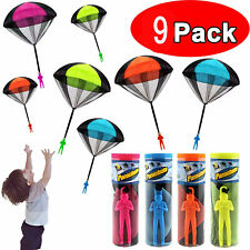9Pcs Parachute Toy, Tangle Free Throwing Toy Parachute Toy Umbrella Outdoor
