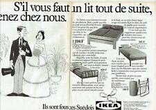 Publicité Advertising 019  1982   meubles suédois Ikea ( 2 pages) lits