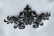 "#3736D 5-3/4"" Black Trim Fringe Boho Art Embroidery Iron On Applique Patch"
