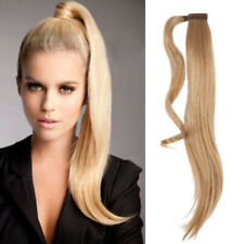 120G Straight High Quality Wrap Ponytail 100% Virgin Remy Human Hair Extension