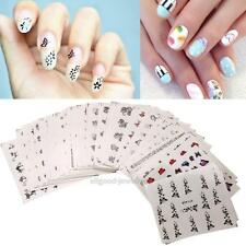 50 Sheet Finger Nail Art Decoration Mixed Flower Sticker DIY Manicure Tips Decal