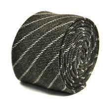 Frederick Thomas GRIS CHARBON/GRIS CRAVATE Rayée ft2150 100% laine