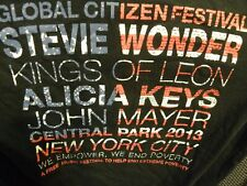 Global Citizen Festival T-Shirt Stevie Wonder Alicia Keys John Mayer Kings of Le