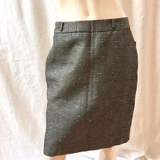 Worthington Womens Silver Metallic Pencil Skirt Lined Size 8 NEW