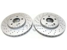 MERCEDES A180 A200 A220 12-17 FRONT 2 DRILLED BRAKE DISCS 295MM (CHECK SIZE)