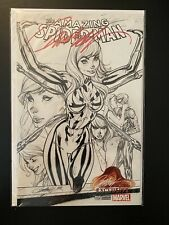 AMAZING SPIDERMAN 15 V4 J SCOTT CAMPBELL SIGNED B&W SKETCH VARIANT COA SOLD OUT!