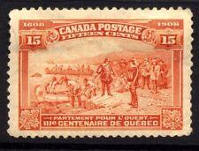 Canada SG 194 Cat £120 1908 Quebec Tercentenary 15c  Brown Orange Well Centered