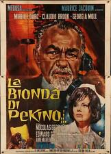 BLONDE FROM PEKING BLONDE DE PEKIN Italian 4F movie poster 55x79 MIREILLE DARC