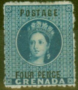 Grenada 1881 4d Blue SG23 Fine & Fresh Mtd Mint