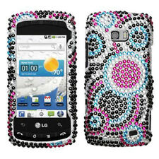 For LG Ally VS740 Crystal Diamond BLING Hard Case Snap on Phone Cover Bubble