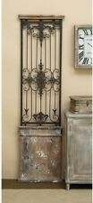 """Large Old World Wall Art Sculpture ~ Metal & Wood Gate ~ Vintage French ~ 71"""" H"""