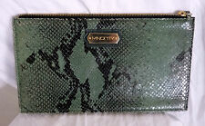 "SAC A MAIN POCHETTE ""MINORITY"" PYTHON CUIR VERT LEATHER HAND BAG"