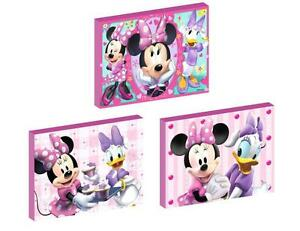 3 x MINNIE MOUSE AND DAISY DUCK CANVAS ART BLOCKS/ WALL ART PLAQUES/PICTURES