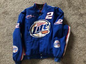 Rare Kurt Busch #2 Miller Lite CPI Blue Racing Jacket Men's Size XL ~ NEW