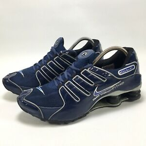 Nike Shox Vintage BMW Williams F1 Team Mens Trainers UK Size 11 Navy Silver
