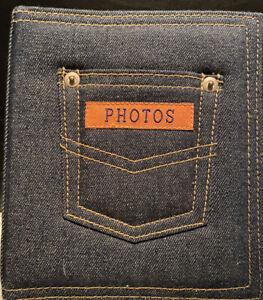Unused Denim Photo Album.