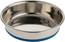 OurPet's Premium Rubber-Bonded Stainless Steel Cat Dish 8oz Free Shipping