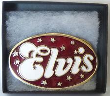 ELVIS : ELVIS PRESLEY BELT BUCKLE - ELVIS LOGO.  (TK)