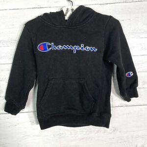 Champion Black Logo Hoodie Sweatshirt Infant Boys Size 6 Months