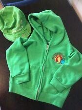 Canon Beach Oregon Hoodie Sweatshirt 3T Toddler Jacket Unisex Green w/Hat