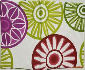 """Peva Vinyl Tablecloth 52"""" x 70"""" Oblong (4-6 people) COLORFUL CIRCLES # 1, BH"""