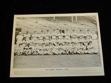 Original 1958 Baltimore Orioles B&W 11x14 Team Issued Premium Photo-VG+
