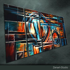 Modern Metal Wall Art Abstract Painting Sculpture Indoor Outdoor Decor-Zenart