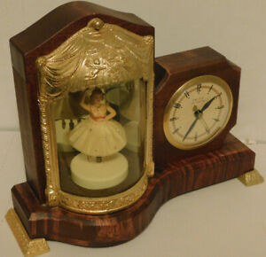 Dancing Ballerina Musical Lighted United Clock Corp. Model No. 870  Excellent