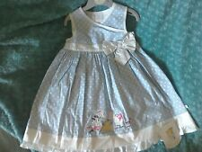 BNWT GIRLS HUMPHREYS HUMPHREY'S CORNER LOTTIE BLUE COTTON DRESS 2-3Y 24-36M