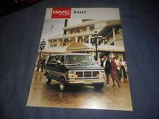 1987 GMC Rally Van Color Brochure Catalog Prospekt